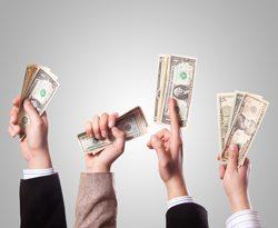 Image of people offering money to bid on your scrap plastic