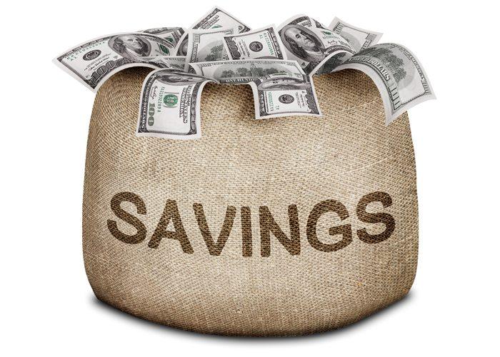 Image of a bundle of money in burlap bag